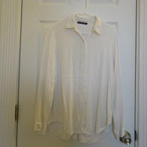 Brandy Melville White Button Down Shirts in Women